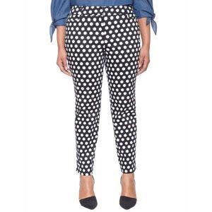 Eloquii Polka Dot Print Kady Trouser Slacks Pants